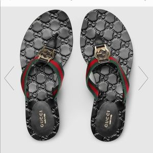 GUCCI thong sandals size 38